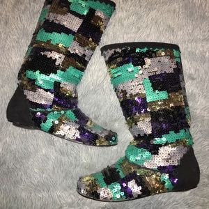 Shoes - Sequin Boots